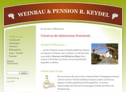 Screenshot Weinbau Pension Keydel
