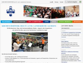 Screenshot Website kirchenchorwerk-sachsen.de